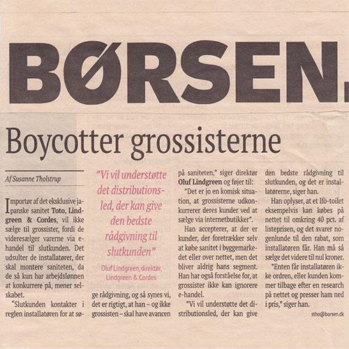 Børsen Artikel – Boycutter Grossisterne